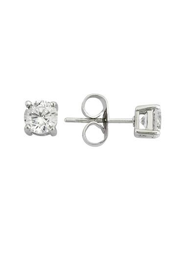Tophills Diamond Co. 0,60 Ct Pırlanta Efekt  Altın Classico Küpe Renkli